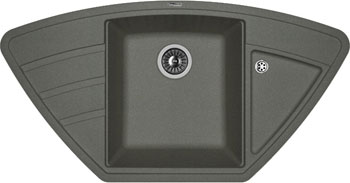 Кухонная мойка Florentina Липси-980 С 980х510 черный FG искусственный камень