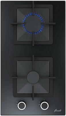 Встраиваемая газовая варочная панель FORNELLI PGT 30 CALORE BL газовая варочная панель fornelli pgt 30 calore bl