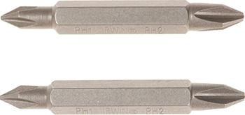 Вставка отверточная IRWIN 1/4'' Ph1/Ph2 50мм 2 шт. 10504393 набор крестовых бит irwin с титановым покрытием ph2 х 25 мм 10 шт