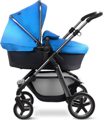 Коляска Silver Cross Pioneer 2 в 1 Sky blue/Carrycot/Chassis Graphite SX 2035.00 SI/SX 5005.BL