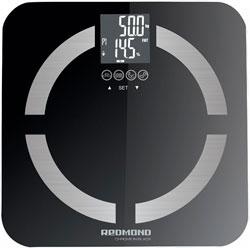 Весы напольные Redmond RS-713 Black кухонные весы redmond rs 736 полоски