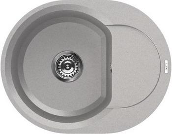 Кухонная мойка Elleci EASY ROUND 600 metaltek (79) aluminium LMYR 6079 мойка кухонная elleci easy 325 780x480 metaltek 79 lmy32579