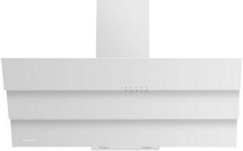 цена на Вытяжка со стеклом MAUNFELD CASCADA TRIO 90 Белое стекло