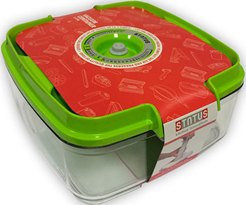 Контейнер для вакуумного упаковщика Status VAC-SQ-20 Green вакуумный контейнер status vac sq 20
