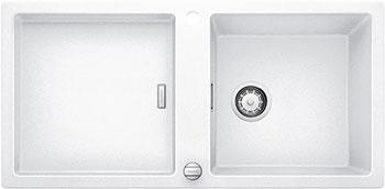 Кухонная мойка BLANCO ADON XL 6S SILGRANIT белый с клапаном-автоматом туалетный ершик с держателем черный 1056716