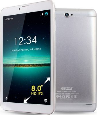 Планшет Ginzzu GT-8005 серебристый планшет