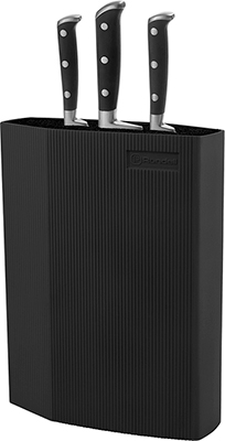 Универсальная пластиковая подставка для ножей Rondell (Black) ABS пластик. черный car vent style abs electroplating stickers set silver black
