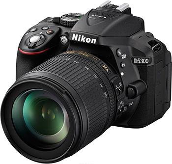 Цифровой фотоаппарат Nikon D 5300 kit 18-105 VR black цифровой фотоаппарат nikon d 5300 kit dx 18 55 vr af p черный