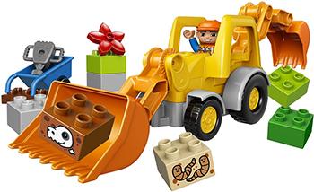 Конструктор Lego Duplo Экскаватор-погрузчик 10811-L lego lego duplo 10831 моя веселая гусеница