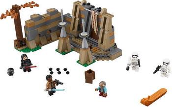 Конструктор Lego STAR WARS Битва на планете Такодана 75139 конструктор бумажный star wars blueprints escape pod desert pack более 30 деталей