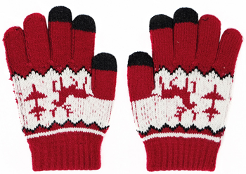 Перчатки детские Picollino GL-10574 ts red fw 18 15 (9 лет) Красный цена и фото