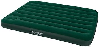 Надувной матрас Intex Downy Bed 137х191х22 со встроенным ножным насосом 66928 матрас надувной intex classic downy bed 76х191х22 см