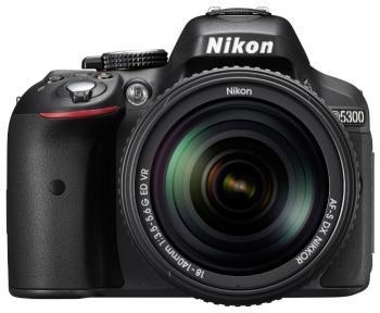 Цифровой фотоаппарат Nikon D 5300 kit 18-140 VR черный зеркальный цифровой фотоаппарат nikon d5300 18 105 vr kit black