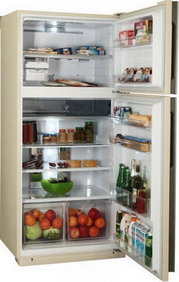 Двухкамерный холодильник Sharp SJ-XE 55 PMBE двухкамерный холодильник sharp sj xe 35 pmsl