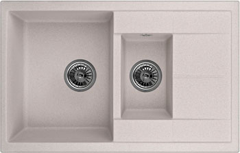 Кухонная мойка Weissgauff QUADRO 775 K Eco Granit серый беж мойка кухонная weissgauff ascot 780 eco granit бежевый