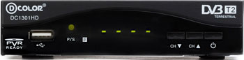 Фото - Цифровой телевизионный ресивер D-Color DC 1301 HD цифровой телевизионный dvb t2 ресивер bbk smp022hdt2 черный