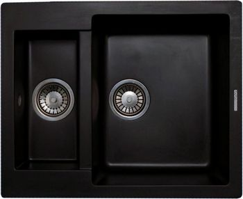 Кухонная мойка LAVA D.1 (LAVA чёрный металлик) кухонная мойка lava d 1basalt d1 bas