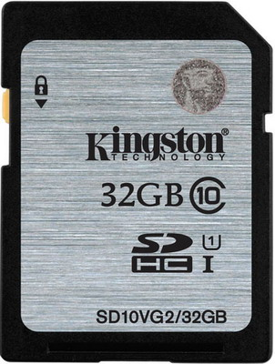 Карта памяти Kingston SDHC Class 10 UHS-I SD 10 VG2/32 GB карта памяти other samsung evo 10 32 64 sd sdhc oem