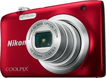 Цифровой фотоаппарат Nikon COOLPIX A 100 красный
