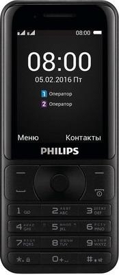 Мобильный телефон Philips Xenium E 181 черный мобильный телефон philips xenium e331 brown коричневый 8712581747633