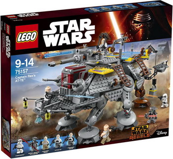 Конструктор Lego STAR WARS Шагающий штурмовой вездеход AT-TE капитана Рекса 75157 05032 lepin star wars captain rex s at te model building blocks classic enlighten diy figure toys for children compatible legoe