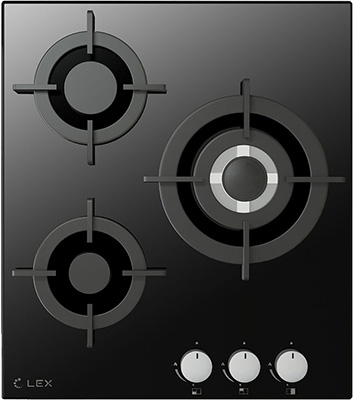 Встраиваемая газовая варочная панель Lex GVG 430 BL