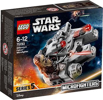 Конструктор Lego Star wars Микрофайтер «Сокол Тысячелетия» 75193 конструктор lego star wars боевой набор планеты татуин 75198