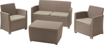 Комплект мебели Allibert Corona set with cushion box капучино 17198017