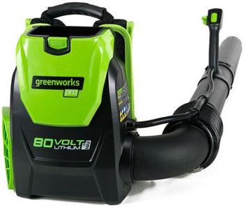 Аккумуляторный ранцевый воздуходув Greenworks 80 V Digi-Pro GD 80 BPB без аккумулятора и зарядного устройства 2402407 galaxy c7 pro zasvetilsia v antutu