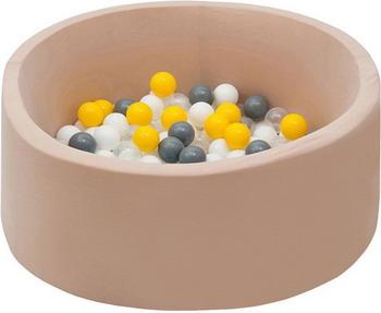 все цены на Бассейн сухой Hotnok Жемчужные лучики с 200 шарами в комплекте: бел прозр желт сер sbh 063 онлайн