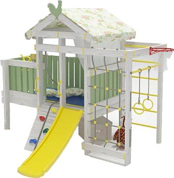 Игровой комплекс для дома Hotnok домик со спальным местом 10 в 1 ''ВД3'' (белый) СД3