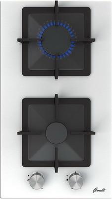 Встраиваемая газовая варочная панель FORNELLI PGT 30 CALORE WH газовая варочная панель fornelli pgt 30 calore bl