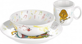Набор посуды Tescoma BAMBINI музыканты 3 шт. 667960 принцесса бременские музыканты prostotoys
