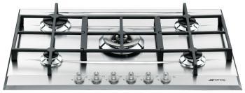 Встраиваемая газовая варочная панель Smeg P 1752 X smeg kse 71 x 1