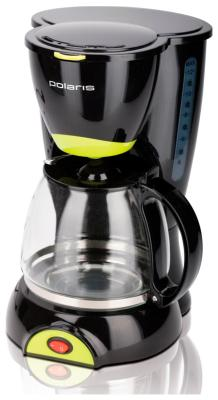 Кофеварка Polaris PCM 1211 чёрный/салатовый кофеварка капельного типа polaris pcm 1211 black green