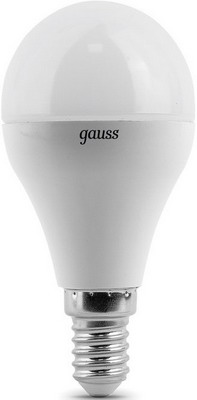 Лампа GAUSS LED Globe E 14 6.5W 4100 K 105101207