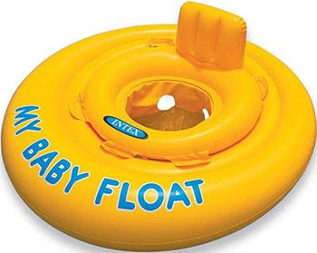 Надувной круг с сидением и со спинкой Intex My Baby Float 59574 лодка intex challenger k1 68305