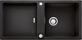 Кухонная мойка BLANCO ADON XL 6S SILGRANIT антрацит с клапаном-автоматом мойка кухонная blanco elon xl 6 s шампань с клапаном автоматом 518741