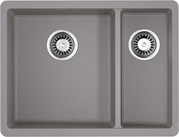 Кухонная мойка OMOIKIRI Kata 55-2-U-GR Artgranit/Leningrad Grey (4993390) lacywear u 8 foy