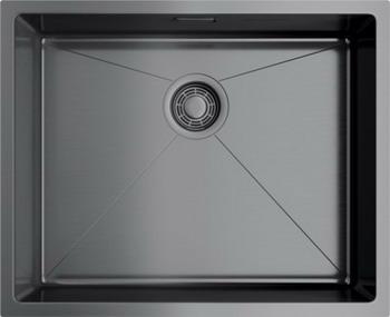 Кухонная мойка OMOIKIRI TAKI 54-U/IF-GM вороненая сталь (4973107)