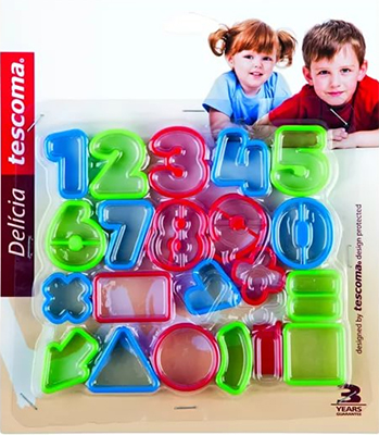 Формочки цифры Tescoma DELICIA KIDS 21шт 630926 ночник эра nn 627 ls r цвет красный
