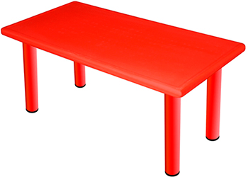 Большой стол King Kids ''Королевский'' пластиковый цвет Красный KK_KT 1100-P_R детский стул king kids детский пластиковый стул королевский красный