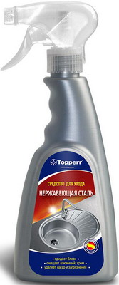 Спрей для ухода за поверхностями из нержавеющей стали Topperr 3432 средство для удаления накипи topperr 3015