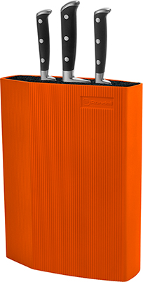 Универсальная пластиковая подставка для ножей Rondell (Orange) ABS пластик подставка универсальная для ножей