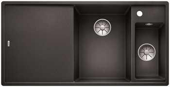 Кухонная мойка BLANCO AXIA III 6 S-F InFino Silgranit антрацит правая ( доска ясень) 523483 мойка axia ii 6 s f rock grey 518834 blanco