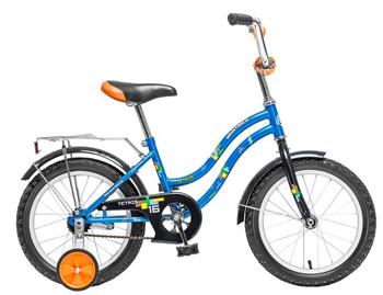 Велосипед Novatrack 161 TETRIS.BL5 16'' TETRIS  синий детский велосипед для мальчиков novatrack tetris x60777 к blue