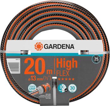 Шланг садовый Gardena HighFLEX 13 мм (1/2'')  20 м 18063-20 шланг садовый truper трехслойный с полипропиленовым коннектором 1 2 20 м