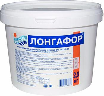 Средство для очистки Маркопул ЛОНГАФОР Кемиклс 2 6кг ведро табл.200гр М15 грунт адгезионный лакра 6кг