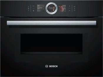 Встраиваемый электрический духовой шкаф Bosch CMG 676 4B1 встраиваемый электрический духовой шкаф smeg sf 4120 mcn
