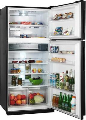 Двухкамерный холодильник Sharp SJ-XE 55 PMBK холодильник sharp sj gf60ar